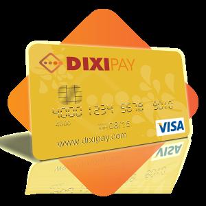 DIXIPAY Visa Prepaid Card